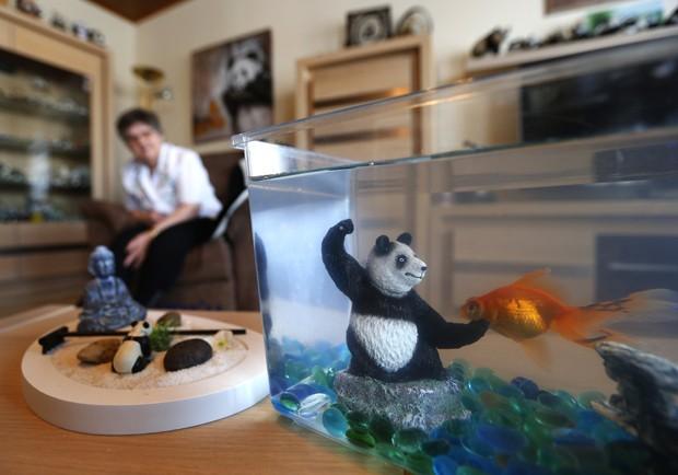 Casal de 'loucos por panda' mora em Haccout, na Bélgica (Foto: Yves Herman/Reuters)