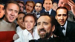Paródia da 'selfie' do Oscar divulgada pelo tumblr 'The Only Daft', com o ator Nicolas Cage. (Foto: Reprodução/Tumblr/The Only Daft)