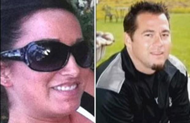 Jessica Stroble e Christopher Martin foram multados em US$ 250 cada um por sexo oral em voo (Foto: Reprodução/Facebook/ Jessica Stroble e Reprodução/Facebook/ Christopher Martin)