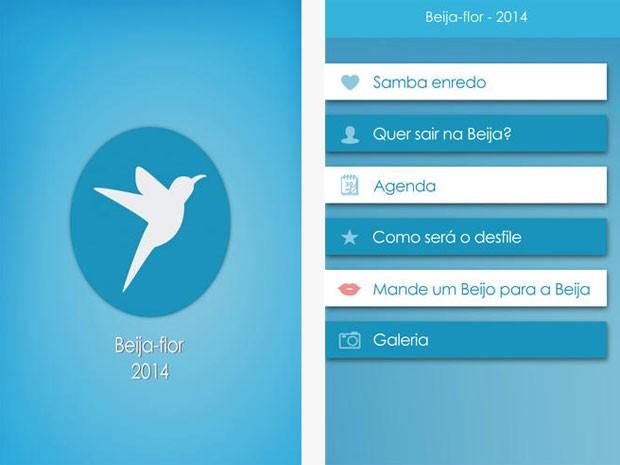 Aplicativo Beijja-Flor (Foto: Reprodução / Apple)