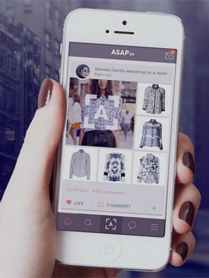 Asap54 ajuda a encontrar na internet uma roupa ou calçado vista em outro lugar (Foto: Reprodução/Asap54)