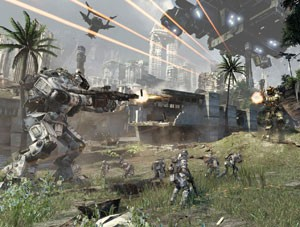 'Titanfall' traz combates muito intensos (Foto: Divulgação/Electronic Arts)