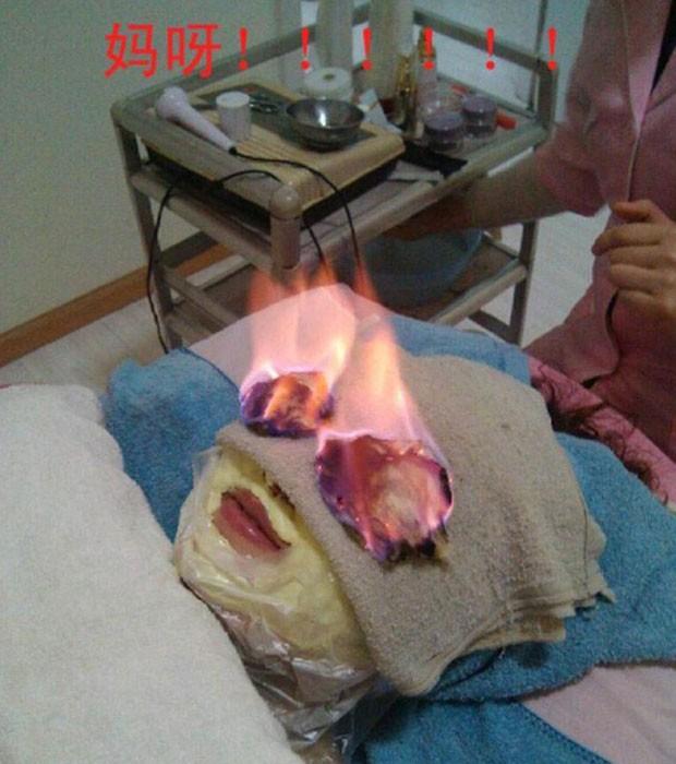 Foto de tratamento bizarro foi postada em fórum chinês (Foto: Reprodução/TT mop)