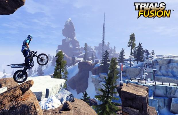 'Trials Fusion' tem cenários muito maiores e com aspirações futuristas (Foto: Divulgação/Ubisoft)