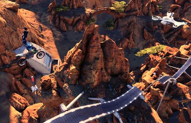 Algumas das novas rampas e quedas de 'Trials Fusion' são de tirar o fôlego (Foto: Divulgação/Ubisoft)
