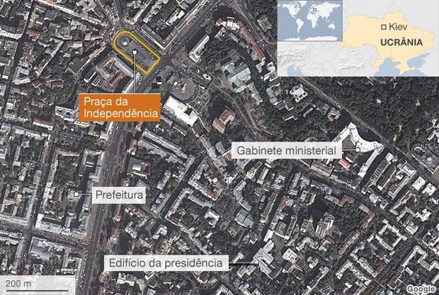 mapa kiev (Foto: BBC)