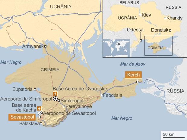 mapa importância estratégica Ucrânia (Foto: BBC)