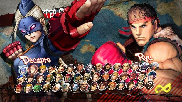 Tela de seleção de lutadores de 'Ultra Street Fighter IV' (Foto: Divulgação/Capcom)