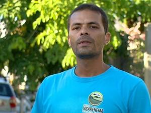 Coordenador do Instituto Jacarenema, Pétrus Lopes (Foto: Reprodução/ TV Gazeta)