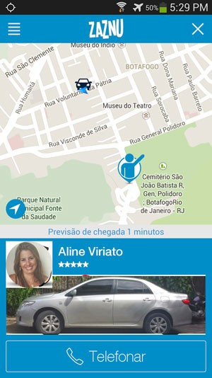 Aplicativo brasileiro de caronas Zaznu chega aos iPhones e entra em operação no Brasil a partir do Rio de Janeiro. (Foto: Divulgação/Zaznu)