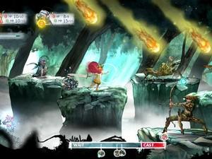 Batalhas de 'Child of Light' tem o mesmo esquema dos RPGs clássicos, com ataques em turnos (Foto: Divulgação/Ubisoft)