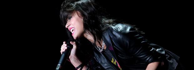 Demi Lovato canta em São Paulo em 2009 (Foto: Daigo Oliva/G1)