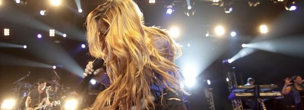 Demi Lovato canta no Rio em 2012 (Foto: Ideraldo Gomes/G1)