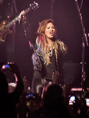 Demi Lovato se apresenta em SP (Foto: Divulgação/Camila Cara/T4F)
