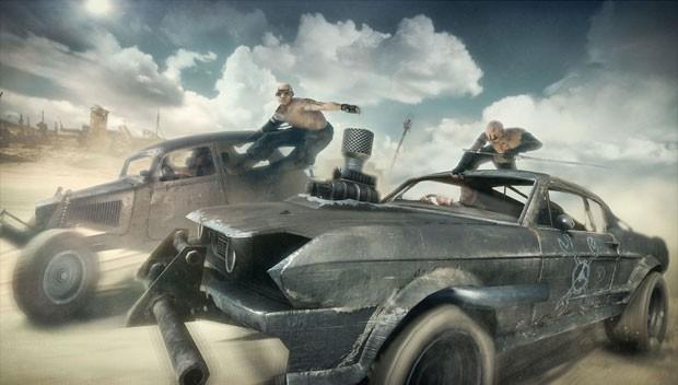Confrontos em carros é destaque do game 'Mad Max' (Foto: Divulgação/Warner Bros.)
