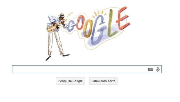 Aniversário de 117 anos de Pixinguinha é homenageado pelo Google em site de buscas (Foto: Reprodução/Google.com)