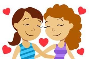 Um dos 'emojis' do pacote 'Arrasa!', de expressões e imagens relacionadas ao público LGBT. (Foto: Divulgação/Viber)