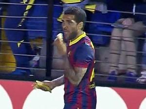Daniel Alves Banana (Foto: Reprodução)