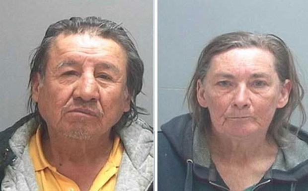 Wilson Benally e Sandra Kruser foram presos ao fazerem sexo em frente a igreja durante casamento nos EUA (Foto: Divulgação/Salt Lake City Police Department)