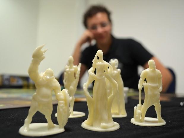 Jogo Selene The Fantasy leva peças em 3D impressas em Piracicaba (Foto: Leon Botão/G1)