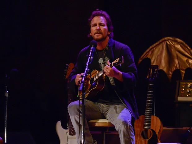 O músico Eddie Vedder, ex-Pearl Jam, se apresenta nesta terça-feira (6) em São Paulo. (Foto: Flávio Moraes/G1)