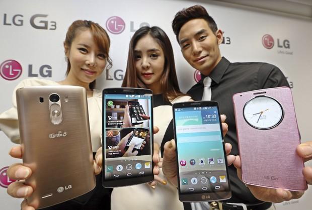 Novo LG G3 foi lançado nesta quarta (28) na Coreia do Sul (Foto: Han Jong-chan/Yonhap/Reuters)
