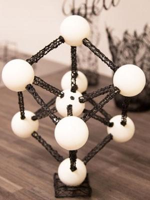 Escultura feita com a caneta LIX 3D, que 'desenha' no ar para criar figuras tridimensionais. (Foto: Divulgação/LIX)