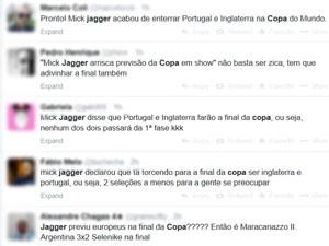 Internautas retomam meme do 'Jagger azarado' após fala no Rock in Rio Lisboa (Foto: Reprodução / Twitter)