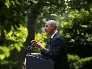 Barack Obama anuncia nesta terça-feira (27) retirada das tropas americanas do Afeganistão até 2016 (Foto: REUTERS/Kevin Lamarque)