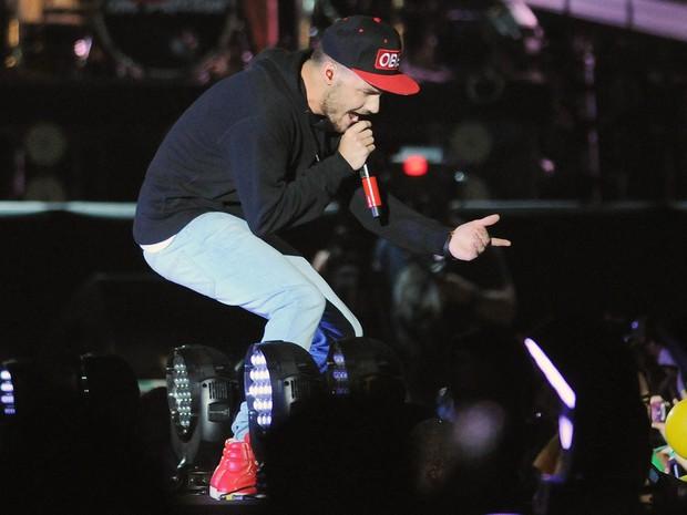 Liam Payne, do One Direction, em show no Rio (Foto: Alexandre Durão/G1)