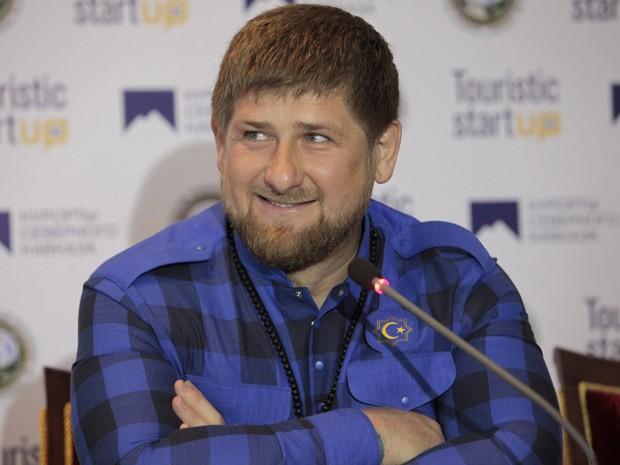 Ramzan Kadyrov, líder da Chechênia, nega ter enviado tropas à Ucrânia (Foto: Musa Sadulayev/AP Photo)