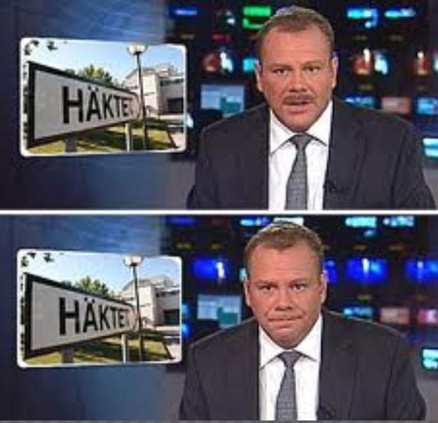 Andy Parker, da emissora de TV WGRZ, teve um ataque de risos enquanto apresentava a previsão do tempo (Foto: Reprodução/YouTube/Meet The Mayor)