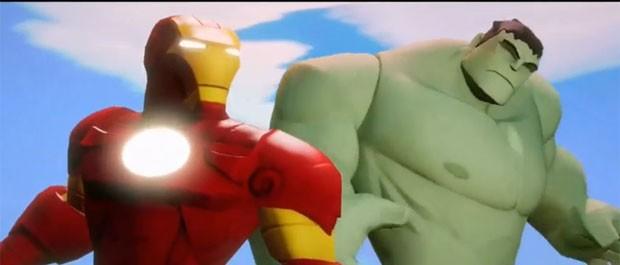 Homem de Ferro e Hulk em seu visual mais infantil para o game 'Disney Infinity 2'. Os bonecos dos personagens têm o mesmo visual de suas versões digitais (Foto: Divulgação/Disney)