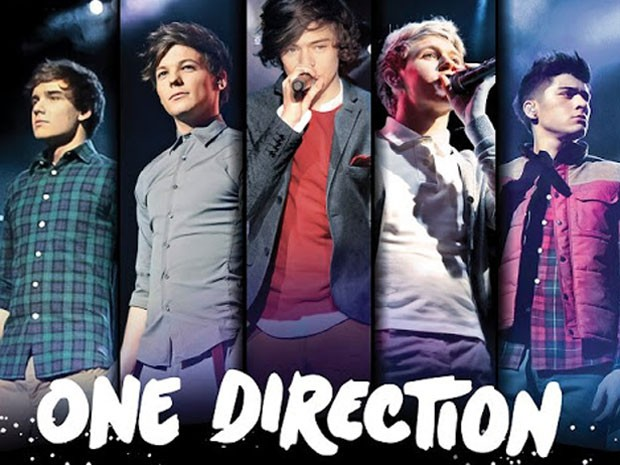 Banner da 'Up all night tour', do One Direction (Foto: Divulgação)