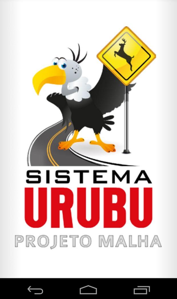 O aplicativo Urubu Mobile, desenvolvido por ambientalistas para evitar atropelamento de animais (Foto: Reprodução)