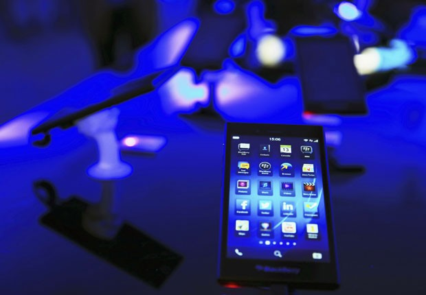 Smartphone Z3, da BlacBerry. (Foto: Beawiharta/Reuters)